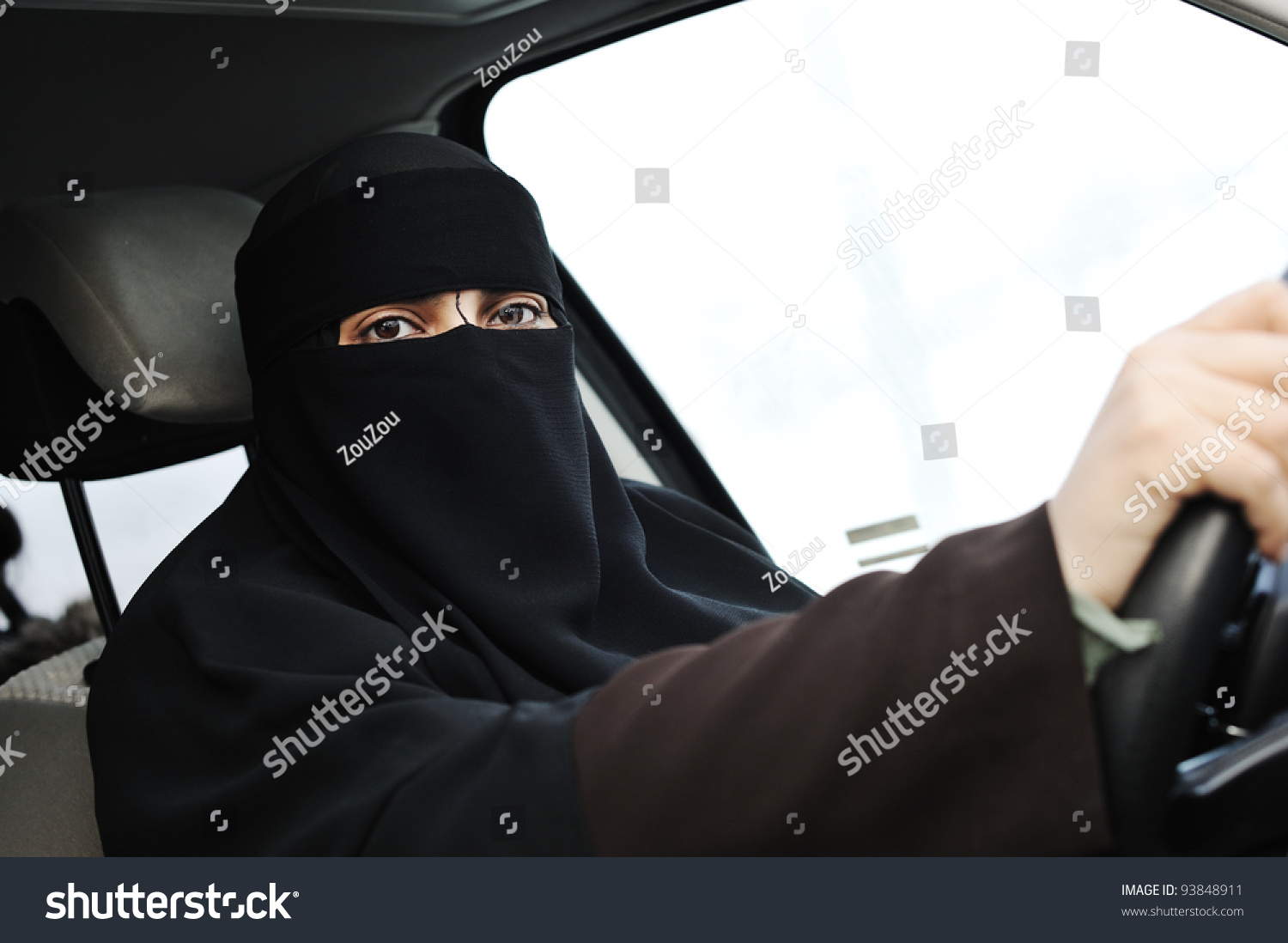arabic muslim woman veil scarf hijab stock photo (royalty free