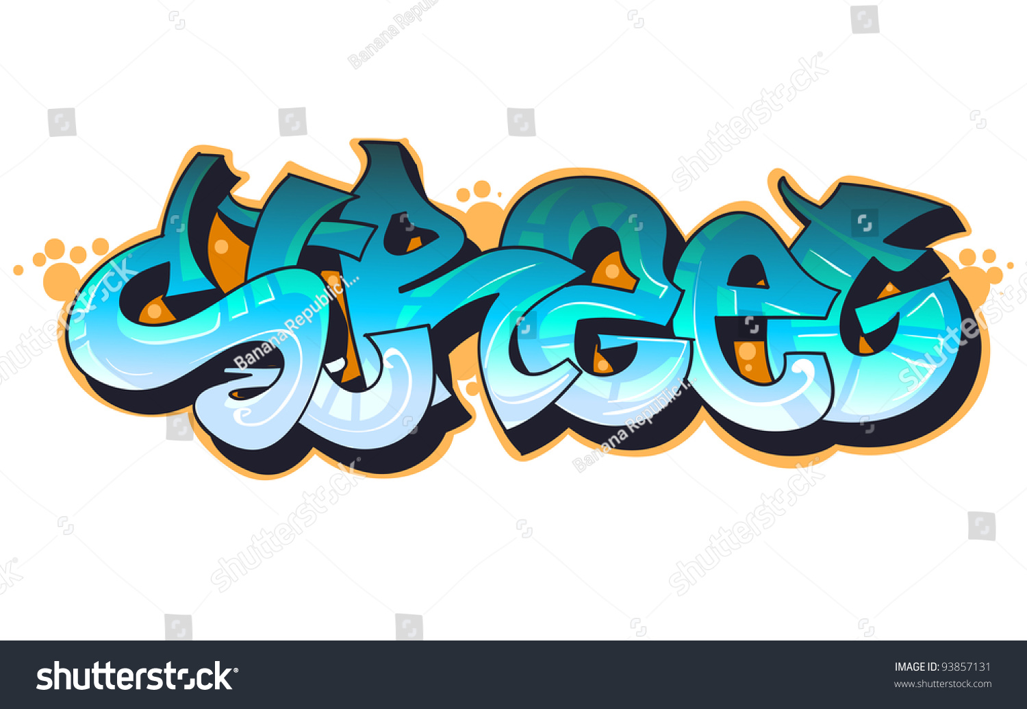 Graffiti Urban Art Stock Vector Illustration 93857131
