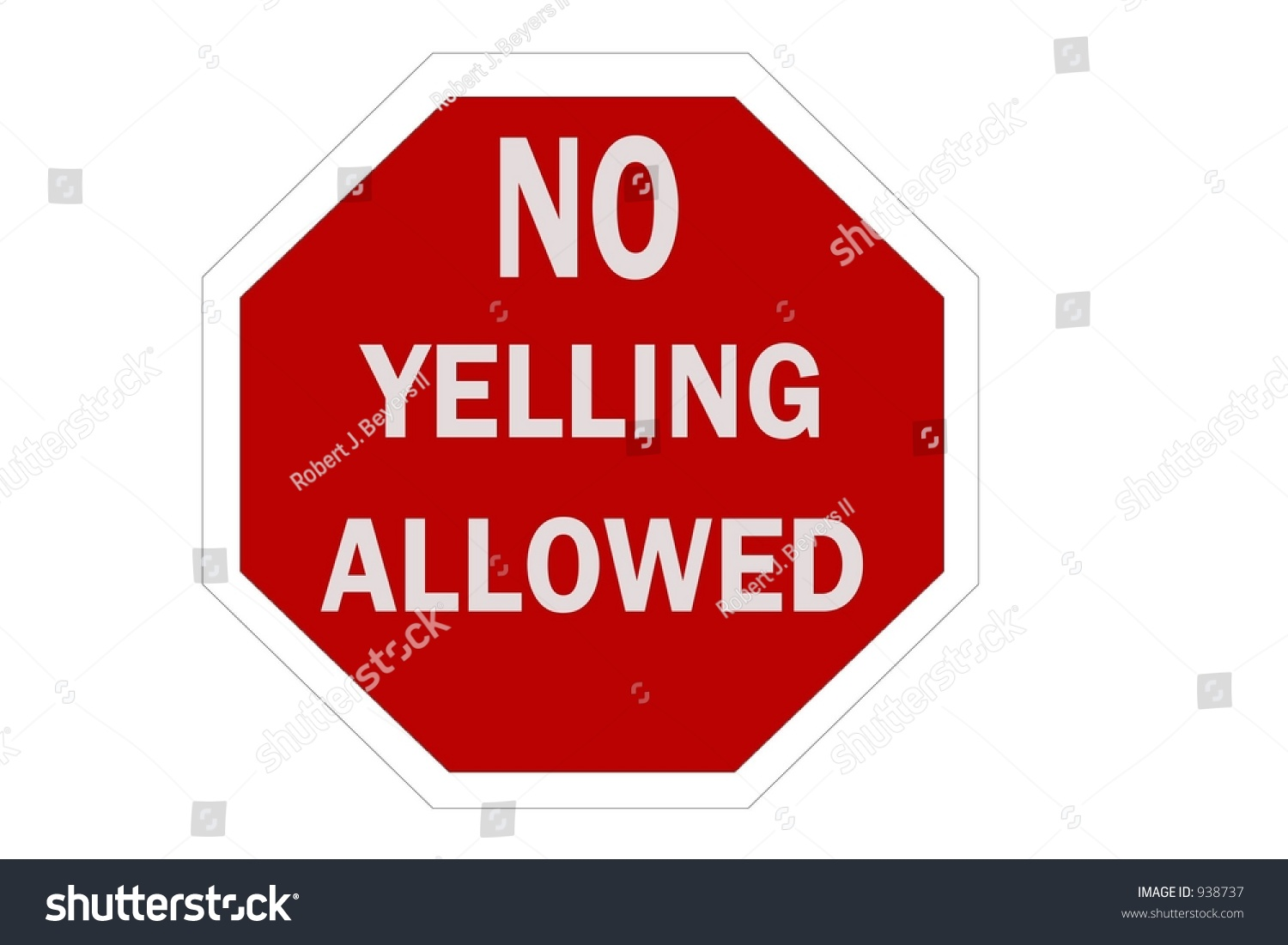 No Yelling Allowed Sign Isolated On A White Background ...
