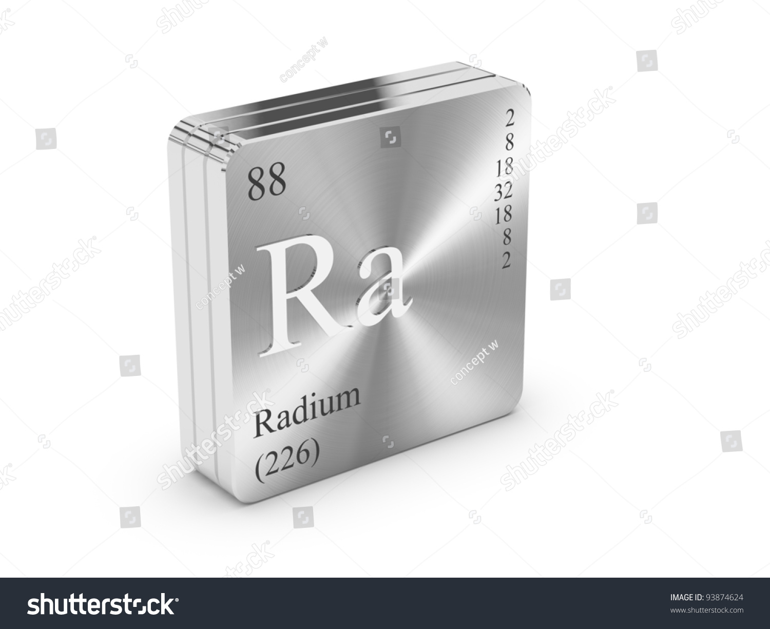 Radium element periodic table on metal stock illustration 93874624 radium element of the periodic table on metal steel block gamestrikefo Images