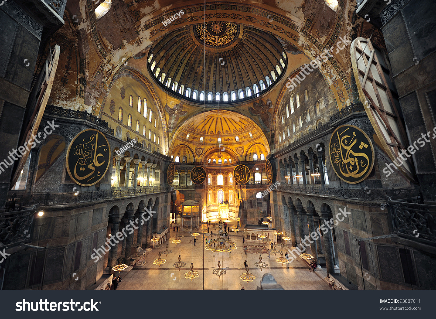The Interior Of Hagia Sophia, Ayasofya, Istanbul, Turkey.