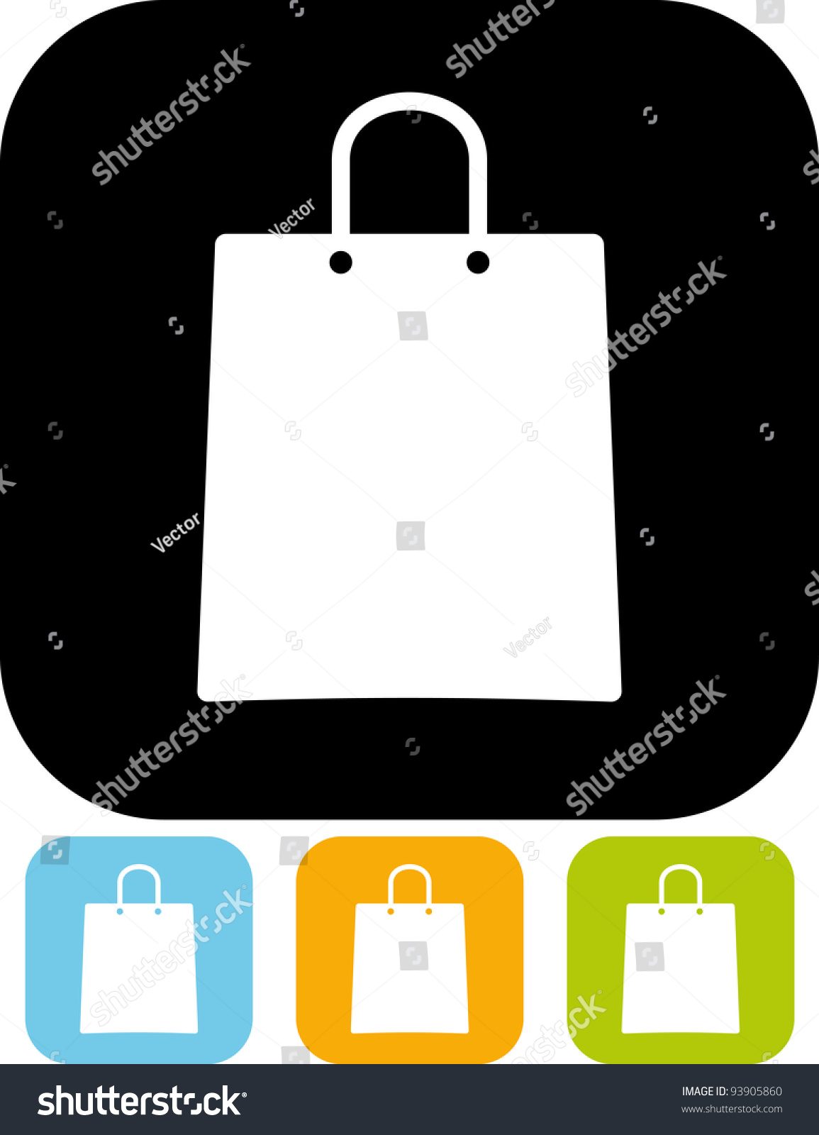 Shopping Bag Vector Illustration Isolated Stock Vector 93905860 ...
