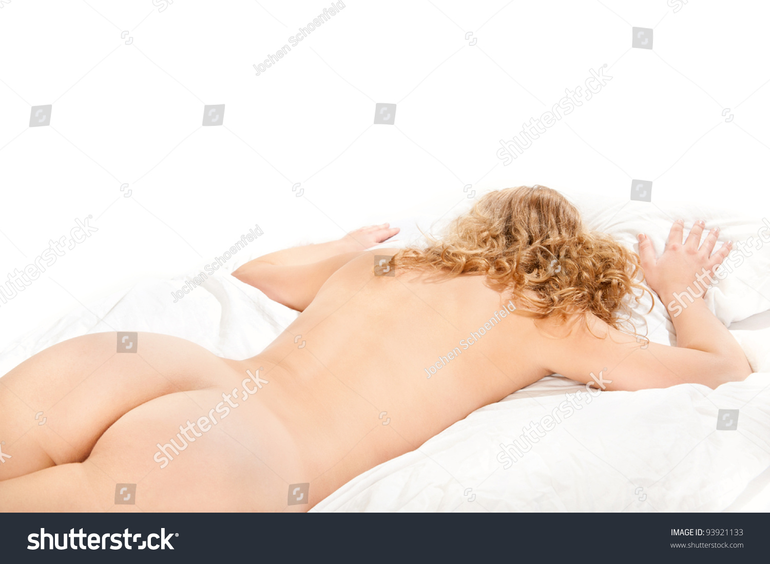 Wife laying naked on bed