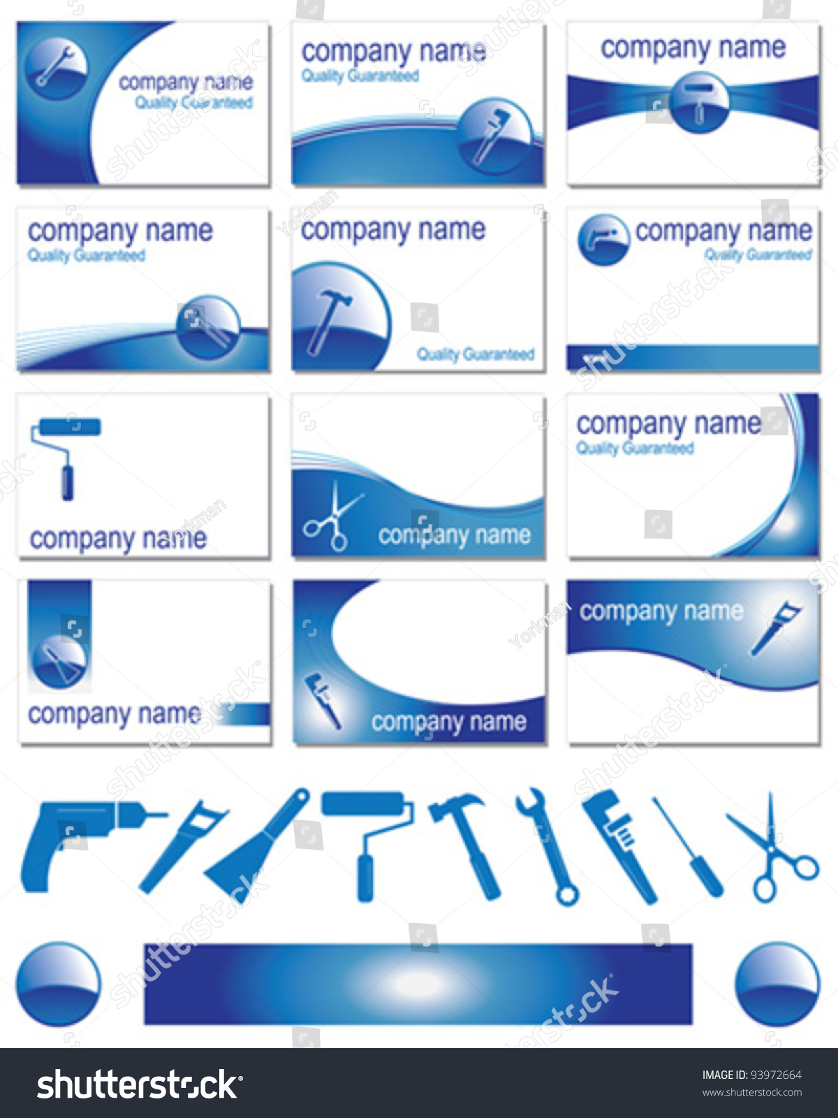 Twelve business card designs different trades stock vector twelve business card designs for different trades magicingreecefo Image collections