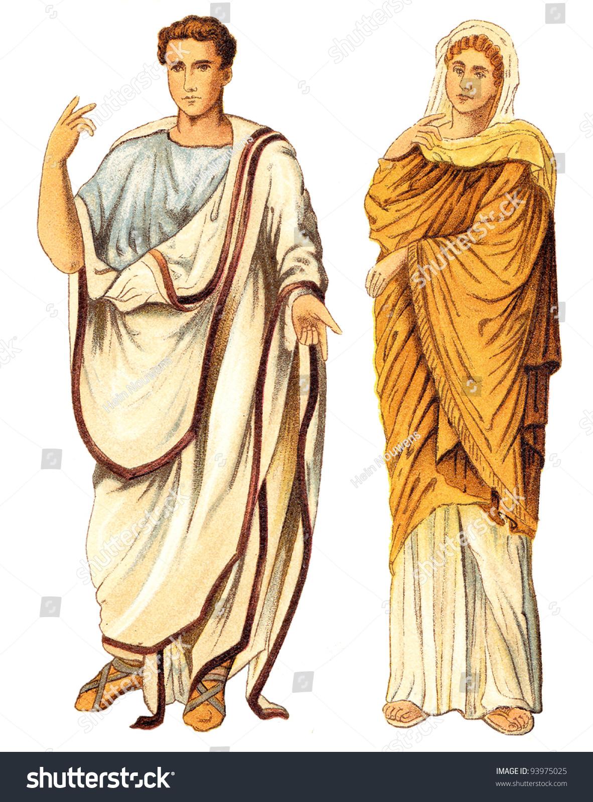 ancient roman man woman ancient rome stock illustration 93975025