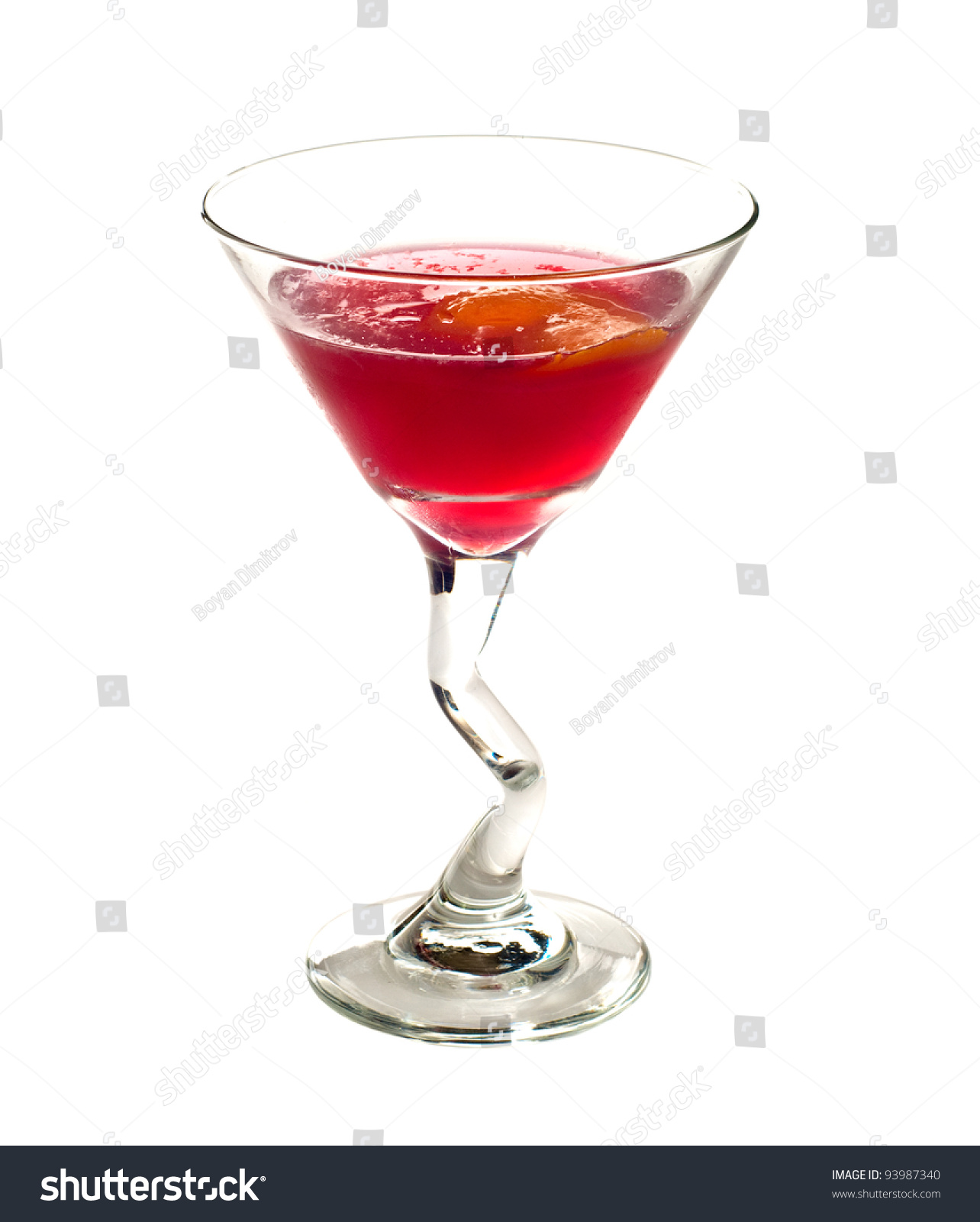 Classic Cosmopolitan Cocktail Drink Isolated On White Background Stock ...