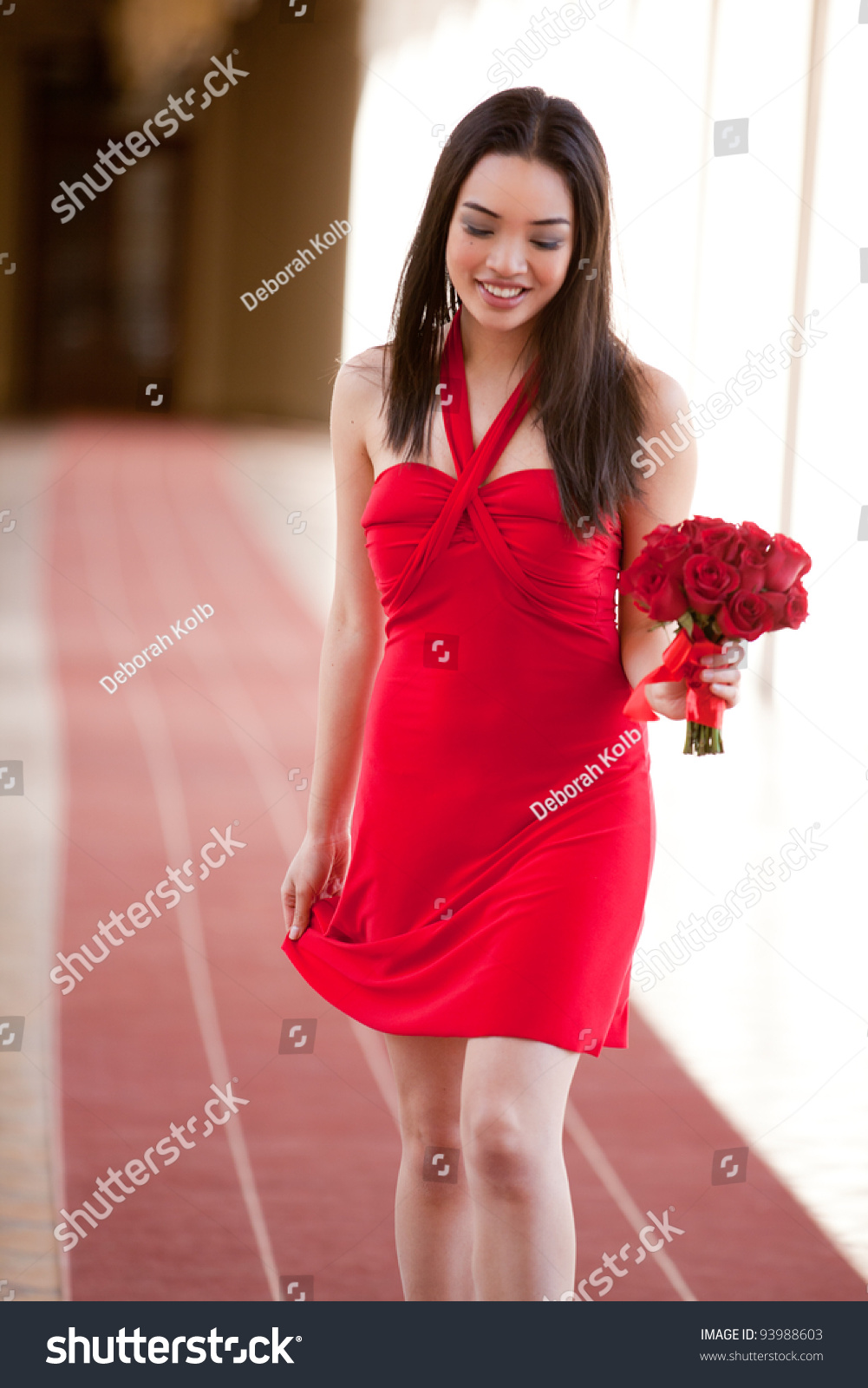 Sexy Red Dress Valentines Day Stock Photo 93988603 - Shutterstock