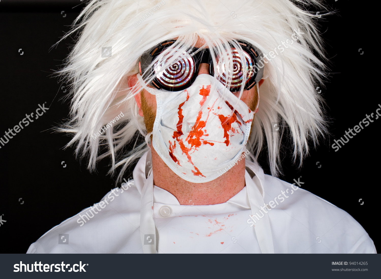Crazy Doctor Surgeon Mask Scrubs Splattered Stock Photo 94014265 ...