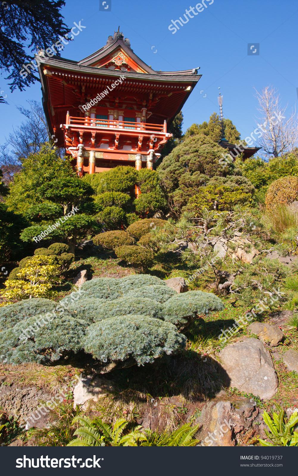 Pagoda In Japanese Tea Garden In Golden Gate Park San Francisco Stock Photo 94019737 Shutterstock