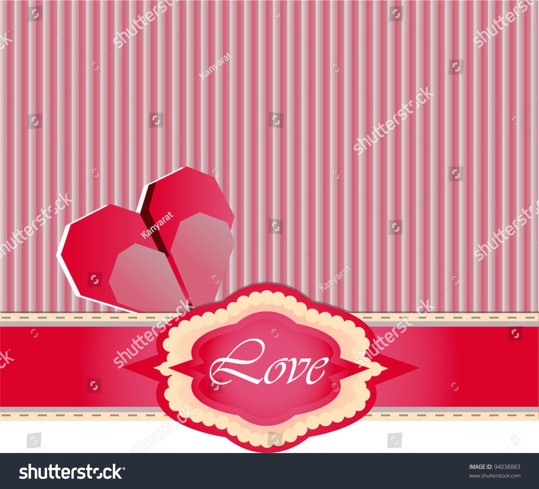 Love gift box pink heart origami stock vector 94038883 shutterstock love gift box with pink heart origami illustrator vector jeuxipadfo Choice Image