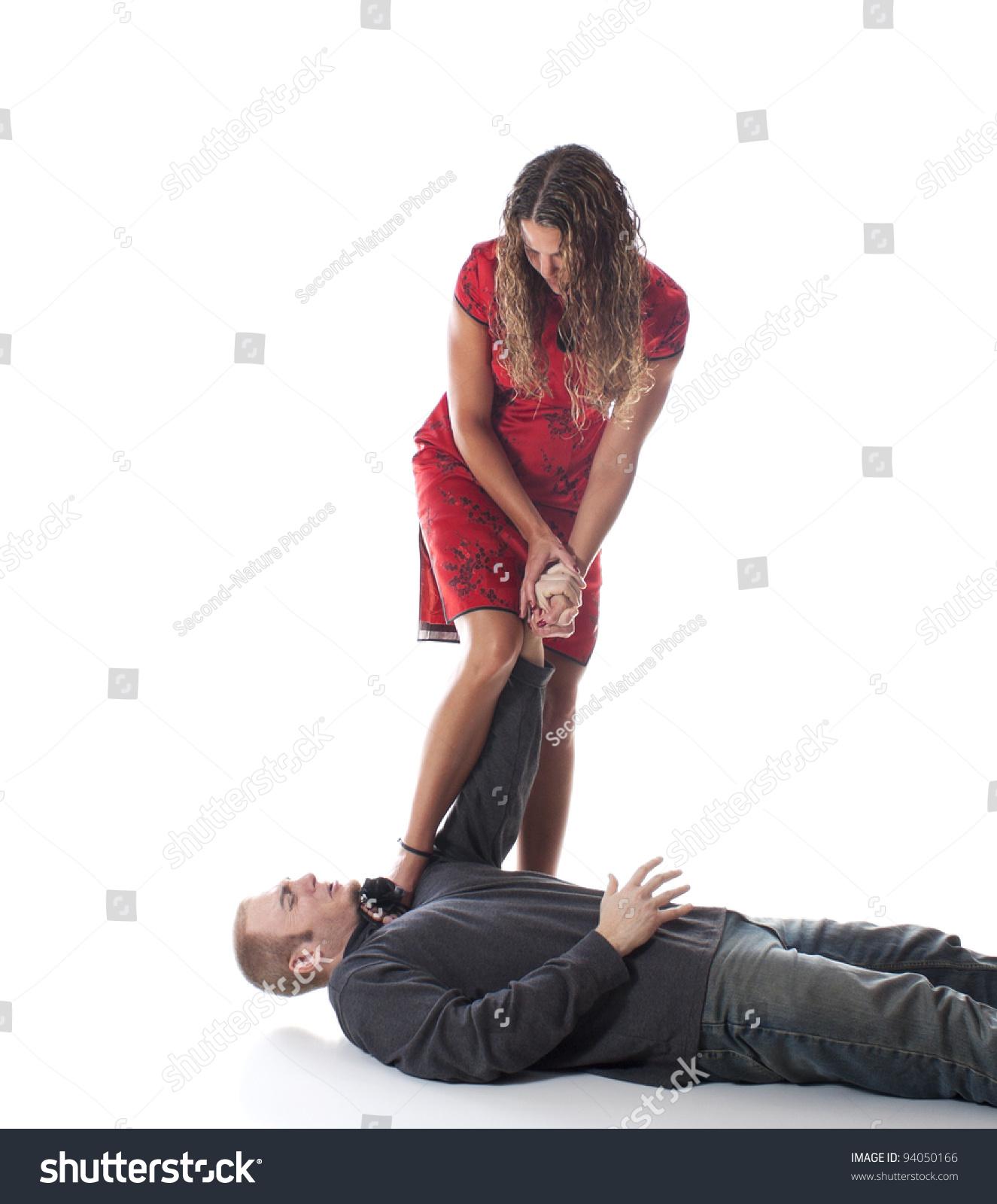 Women Overpowering Man 13