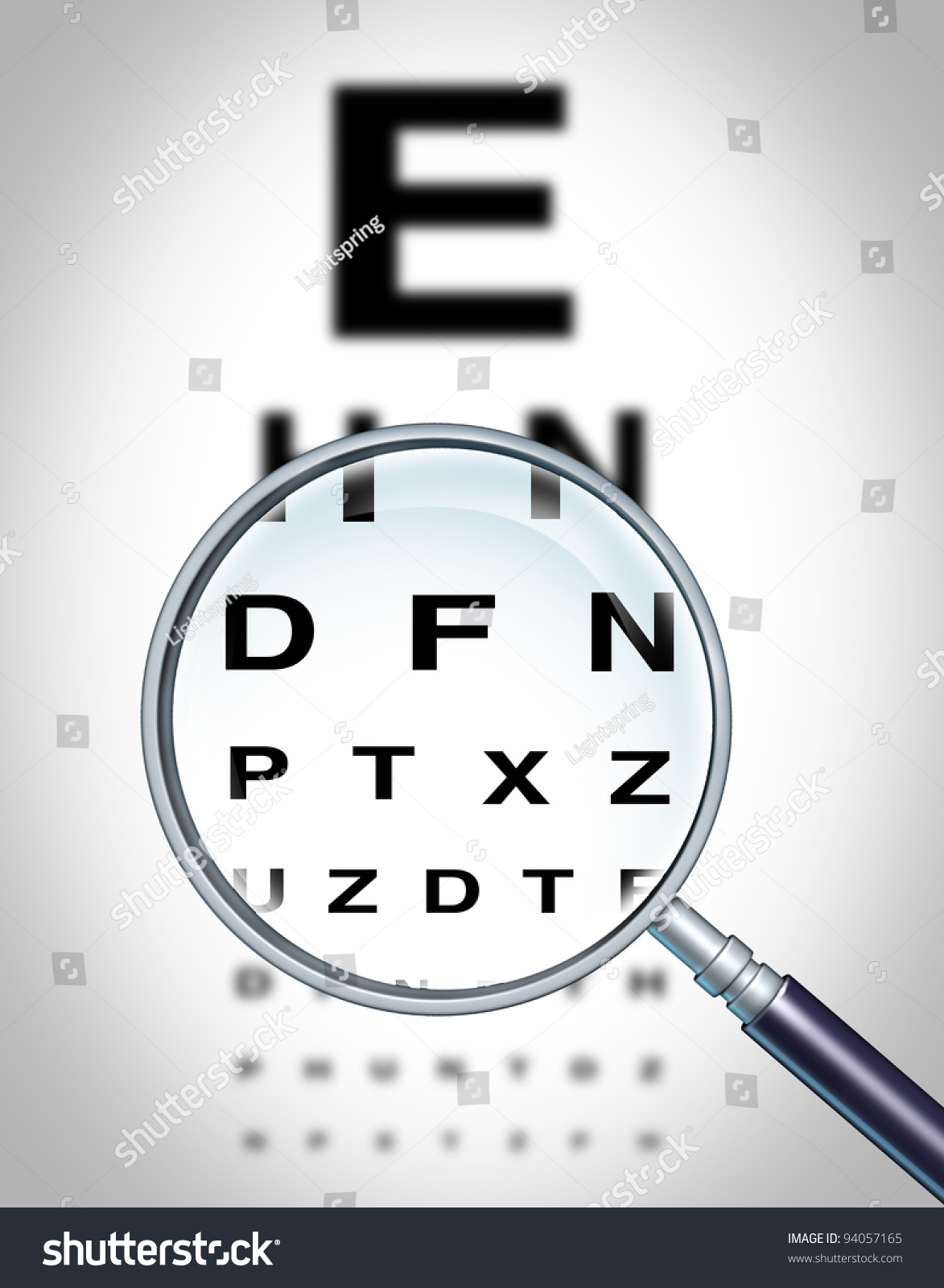 Human Eye Vision Chart Sight Medical Stock Illustration 94057165