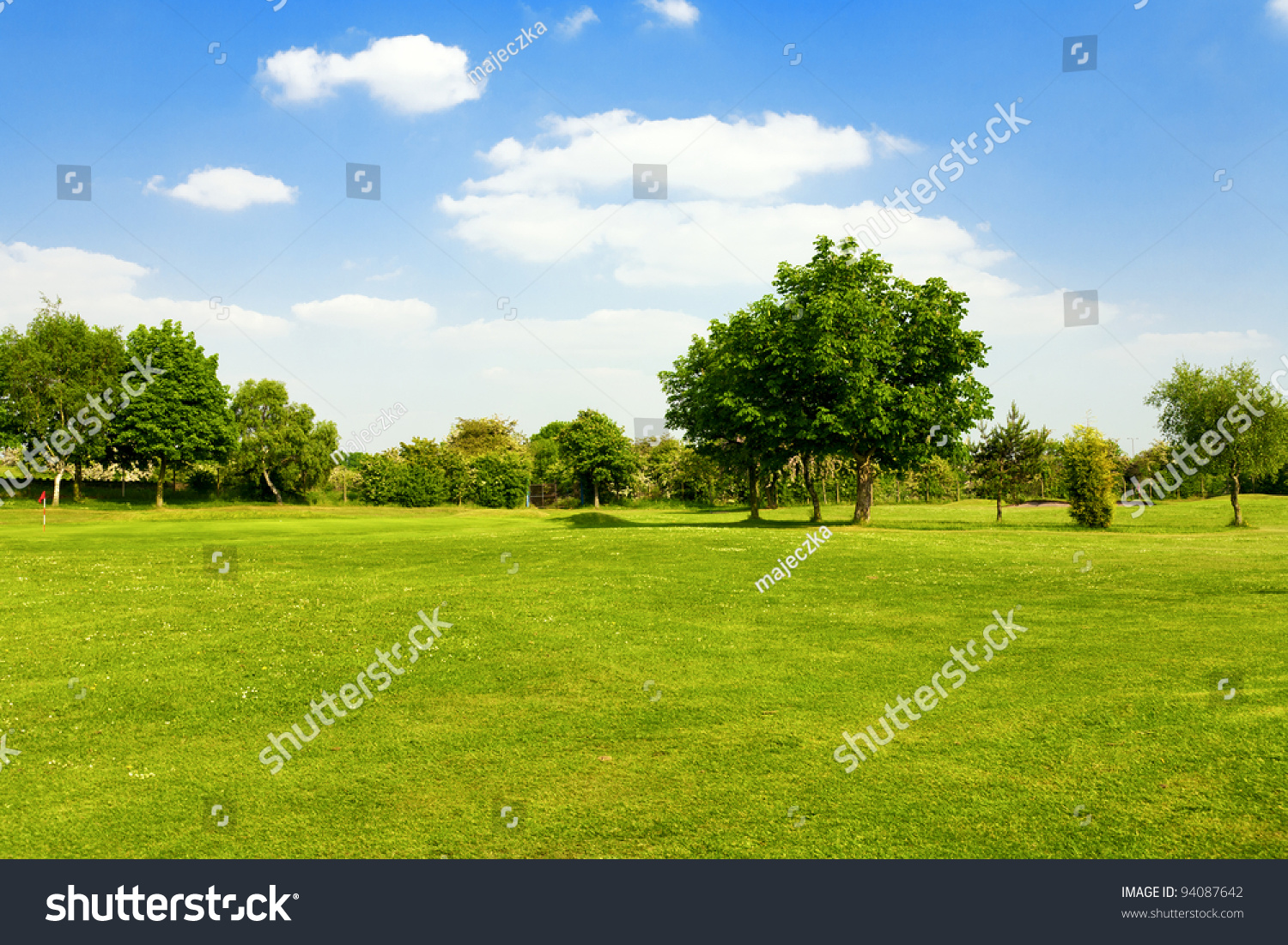 Green grass on a golf field #94087642