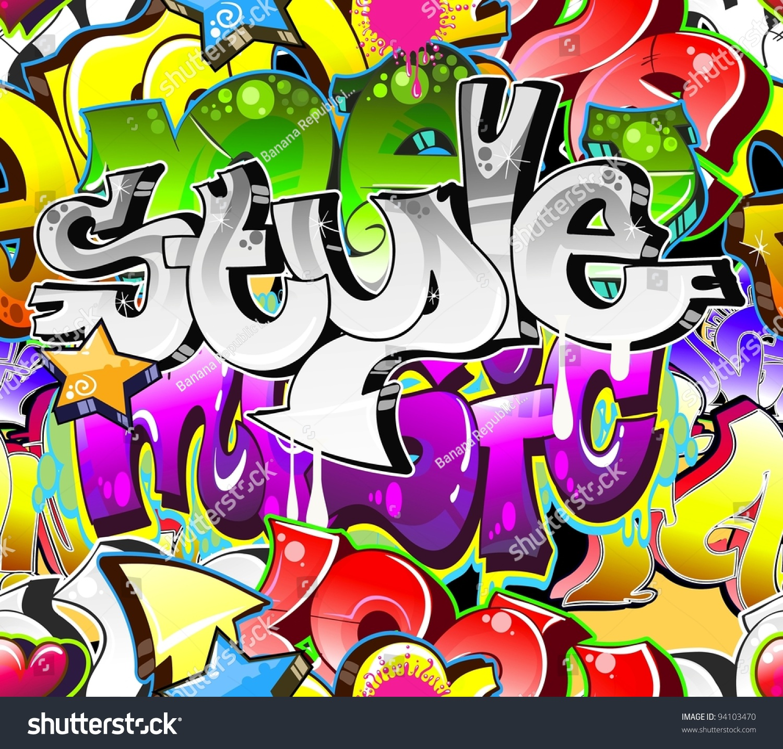 Graffiti Background Urban Art. Street Wall Stock Vector ...