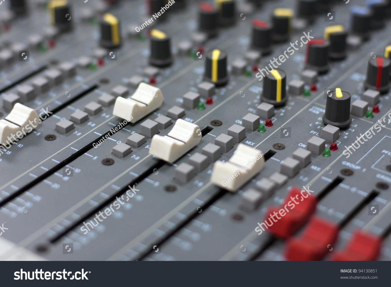 The Audio Mixer Equipment For Sound Engineering Ez Canvas Circuit