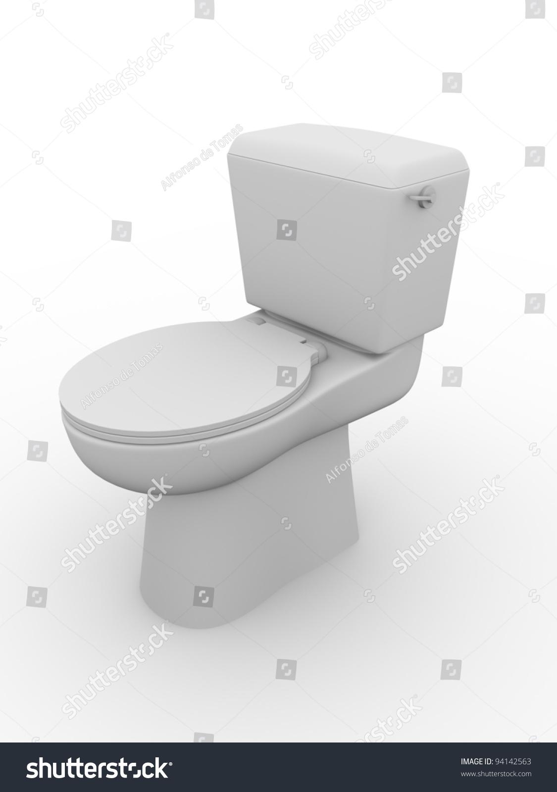 Closed toilet bowl  Bathroom equipment  Water closet  WC. Closed Toilet Bowl Bathroom Equipment Water Stock Illustration