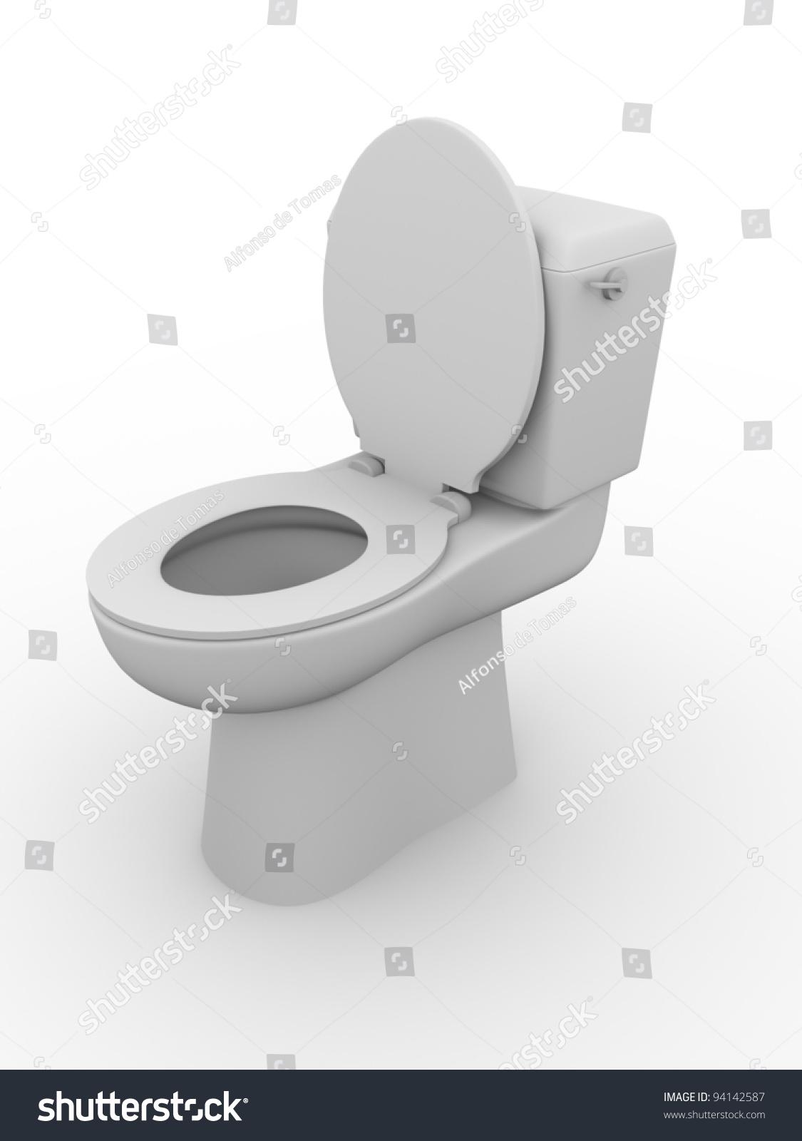 Open Toilet Bowl Bathroom Equipment Water Stock