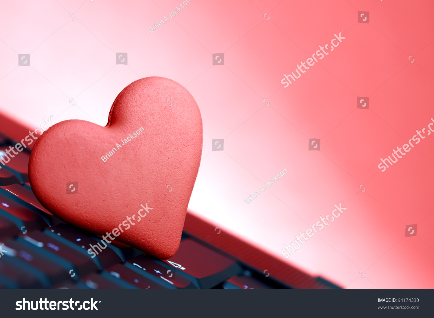 Love Online Dating Concept Heart Shape Stock Photo Edit Now