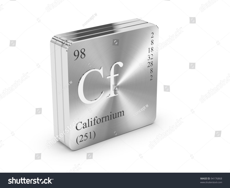 Californium element periodic table on metal stock illustration californium element of the periodic table on metal steel block gamestrikefo Images