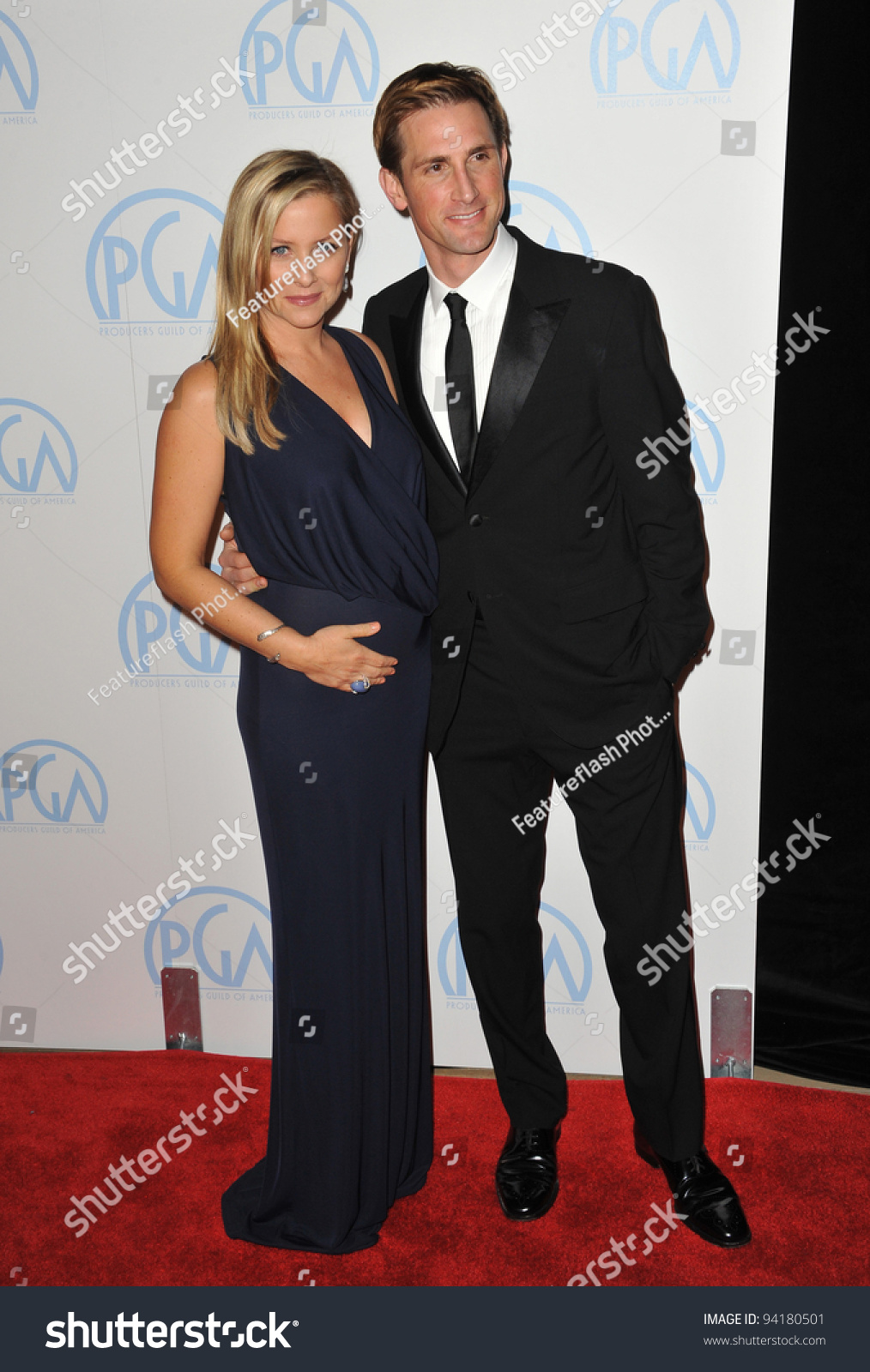 jessica capshaw husband christopher gavigan at the 23rd annual producers guild awards at the. Black Bedroom Furniture Sets. Home Design Ideas