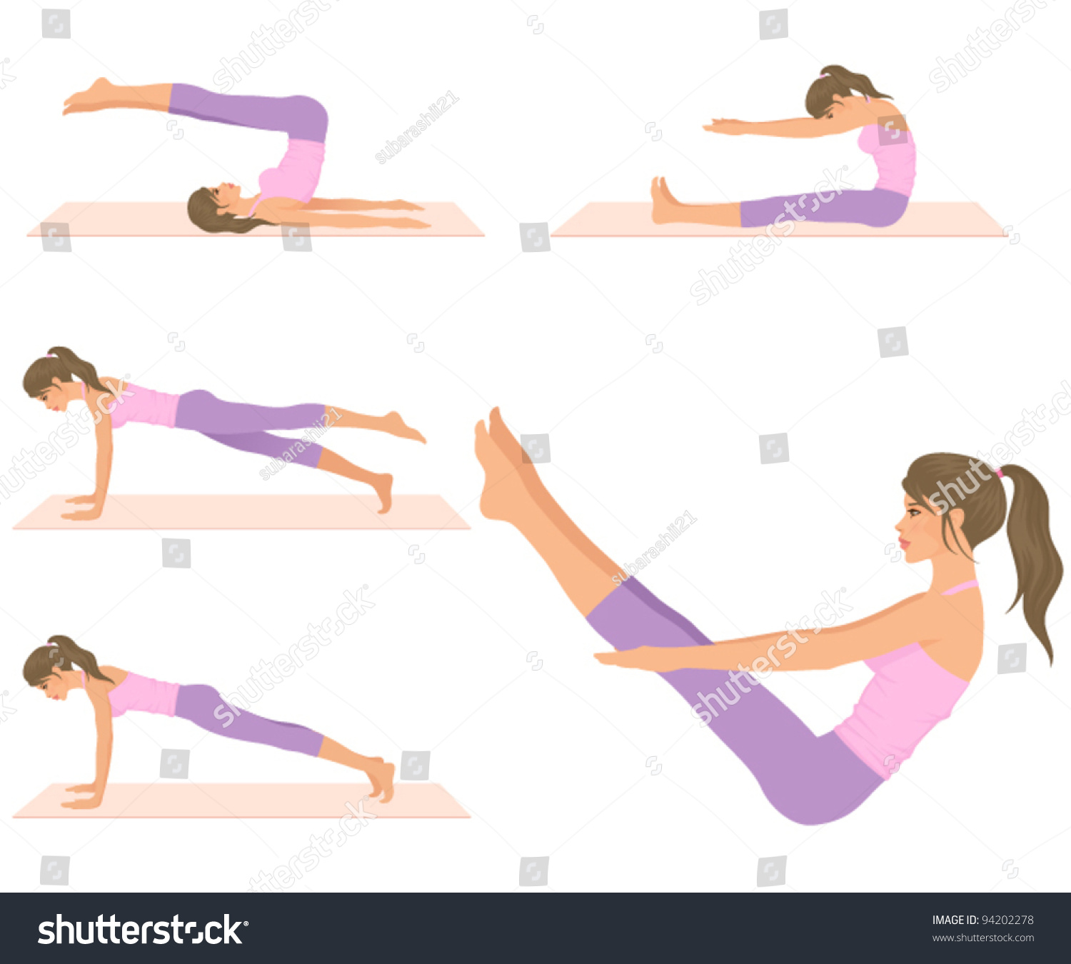 Woman Pilates Chair Exercises Fitness Stock Photo: A Beautiful Fit Woman Doing Pilates