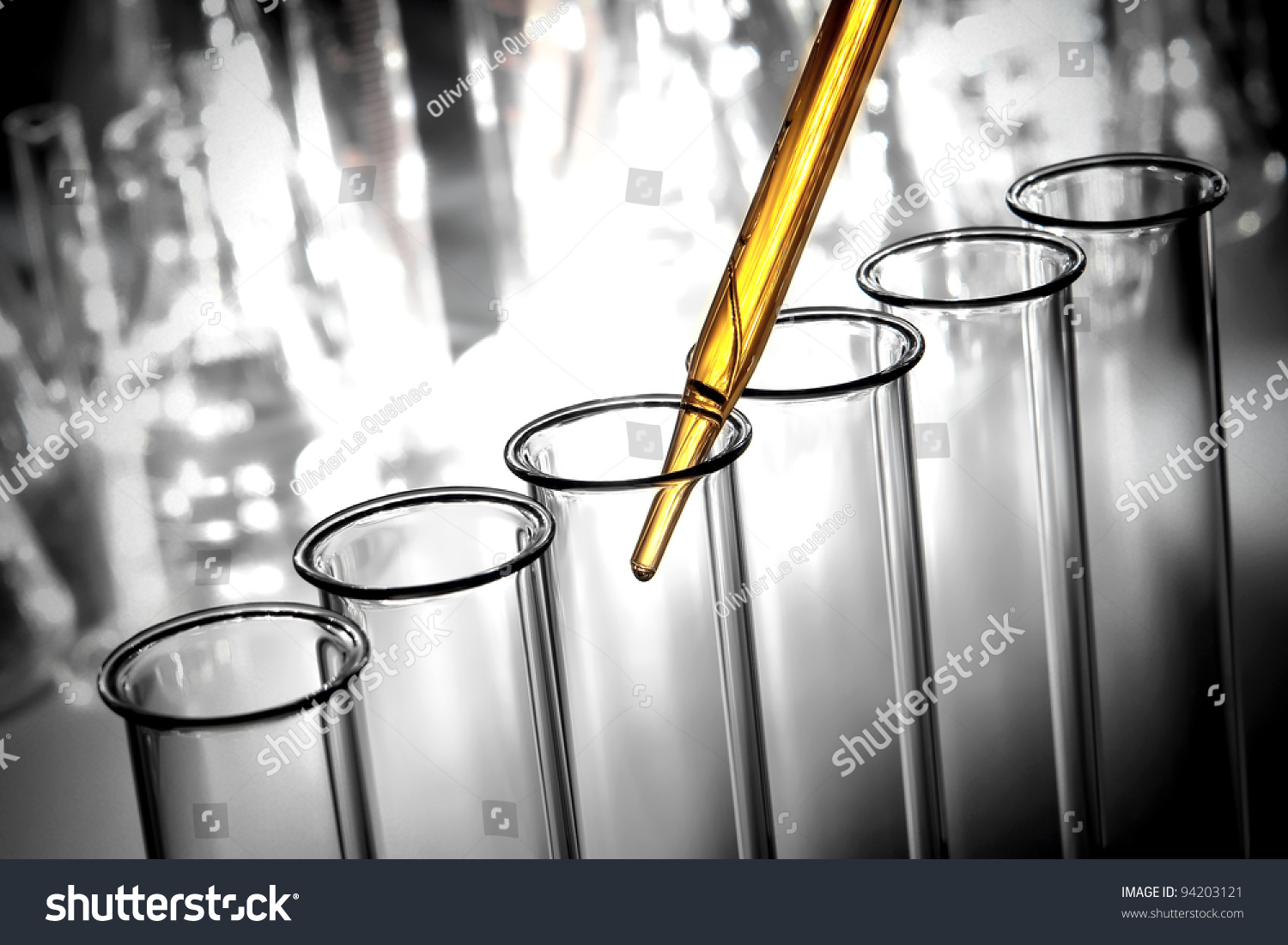 A lab experiment to test the different concentrations of a chemical solution