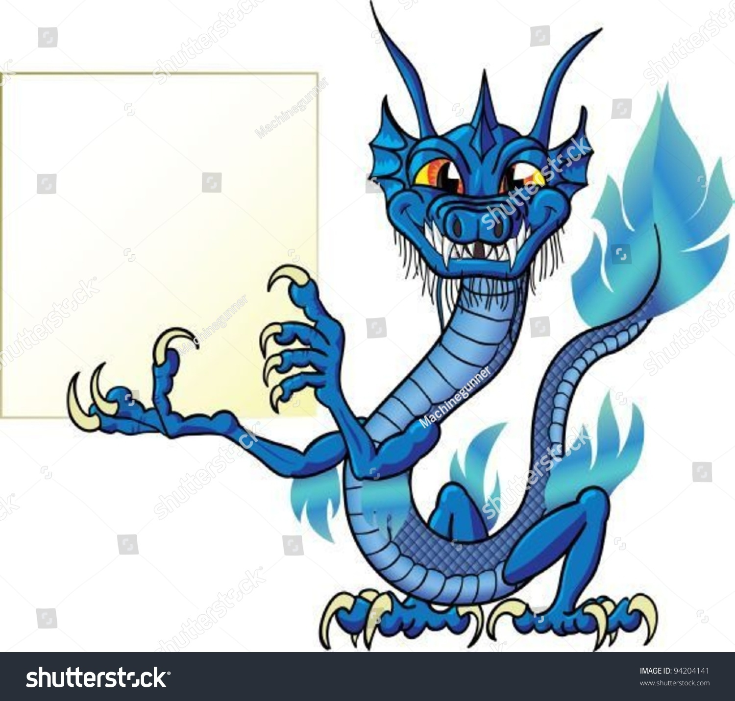 Water Funny Pictures Stock Vector Funny Cartoon Chinese Water Dragon With