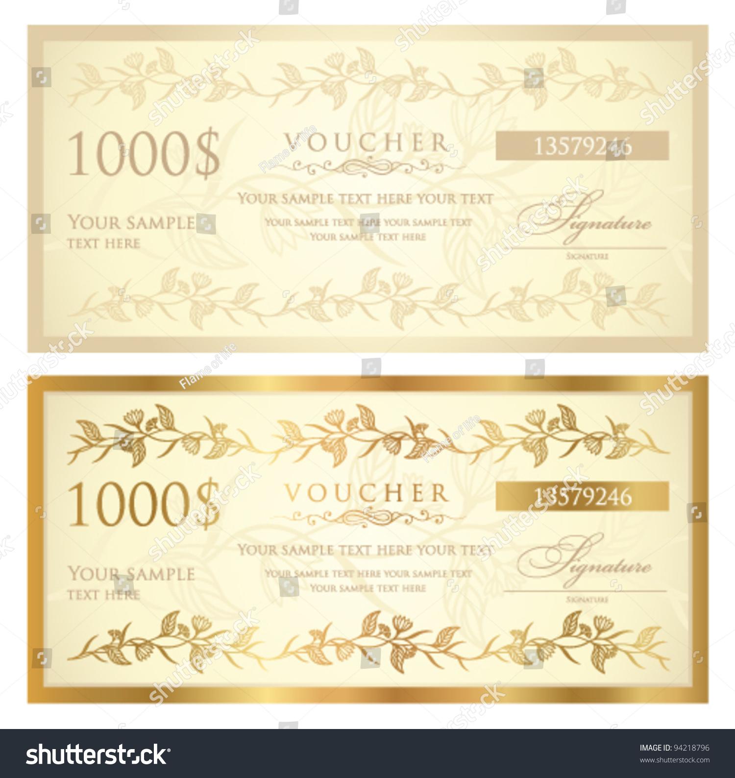 template for vouchers – Voucher Sample Design