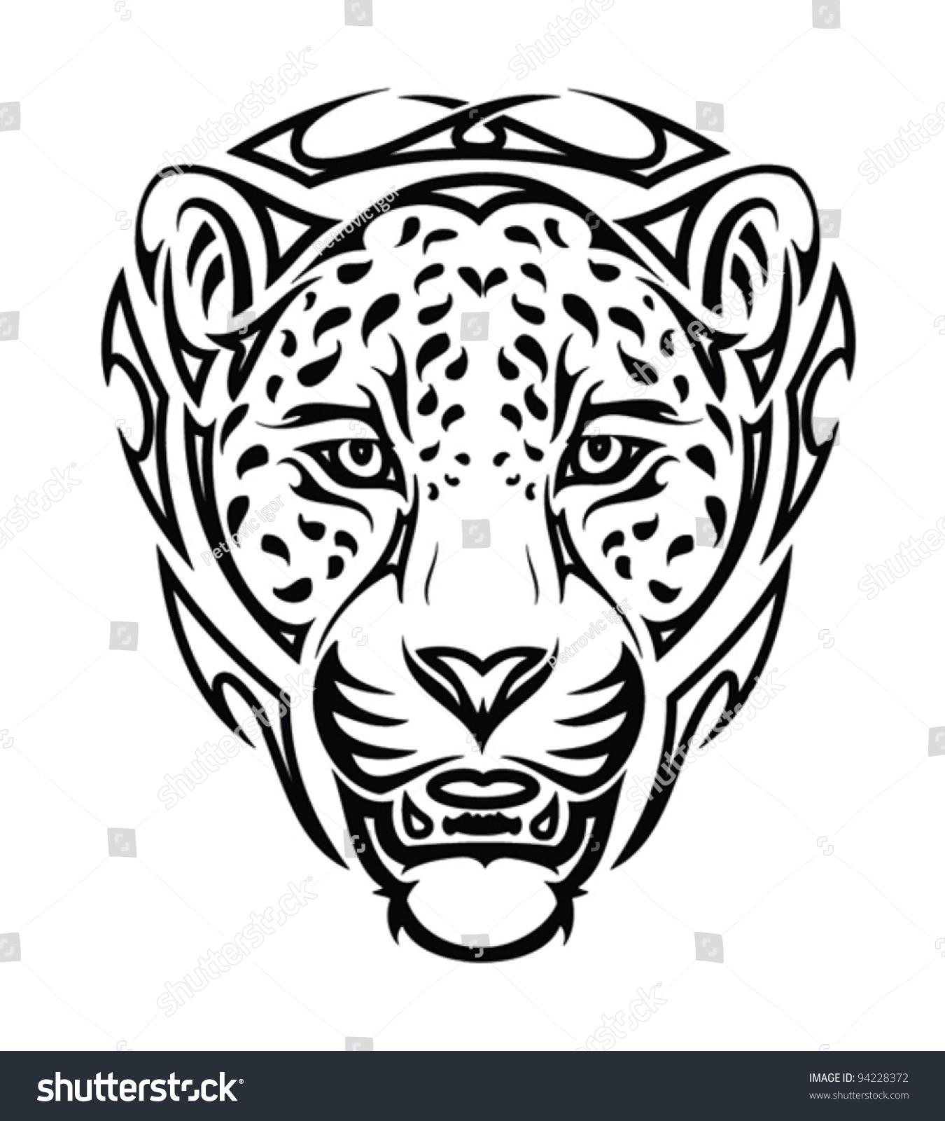 Jaguar Head Vector