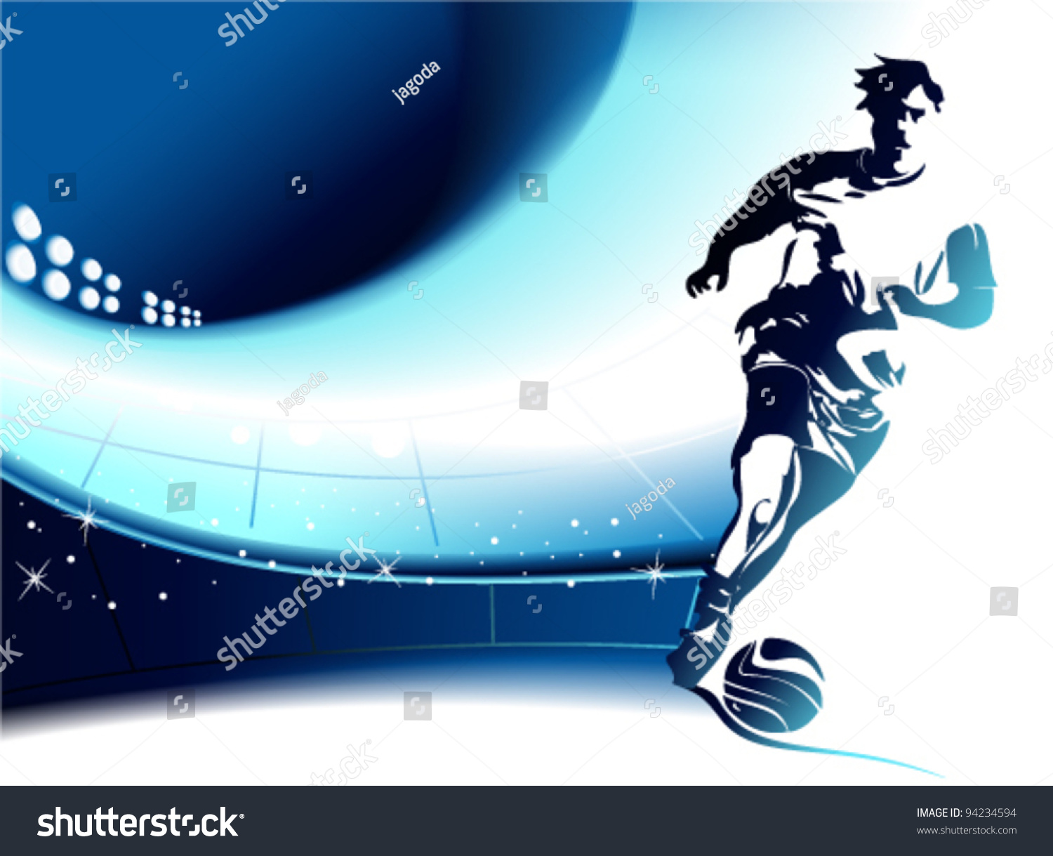 Football Background Player Stock Vector 94234594