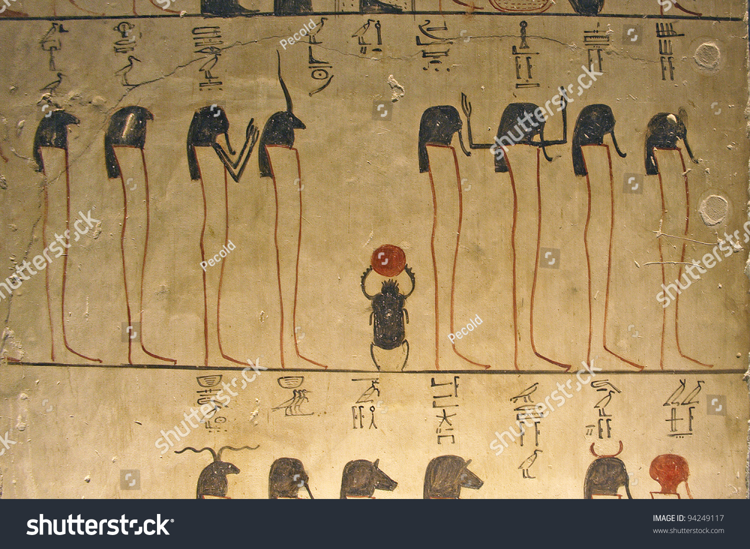 Valley of the kings in egypt tomb of thutmosis iii for Ancient egyptian tomb decoration