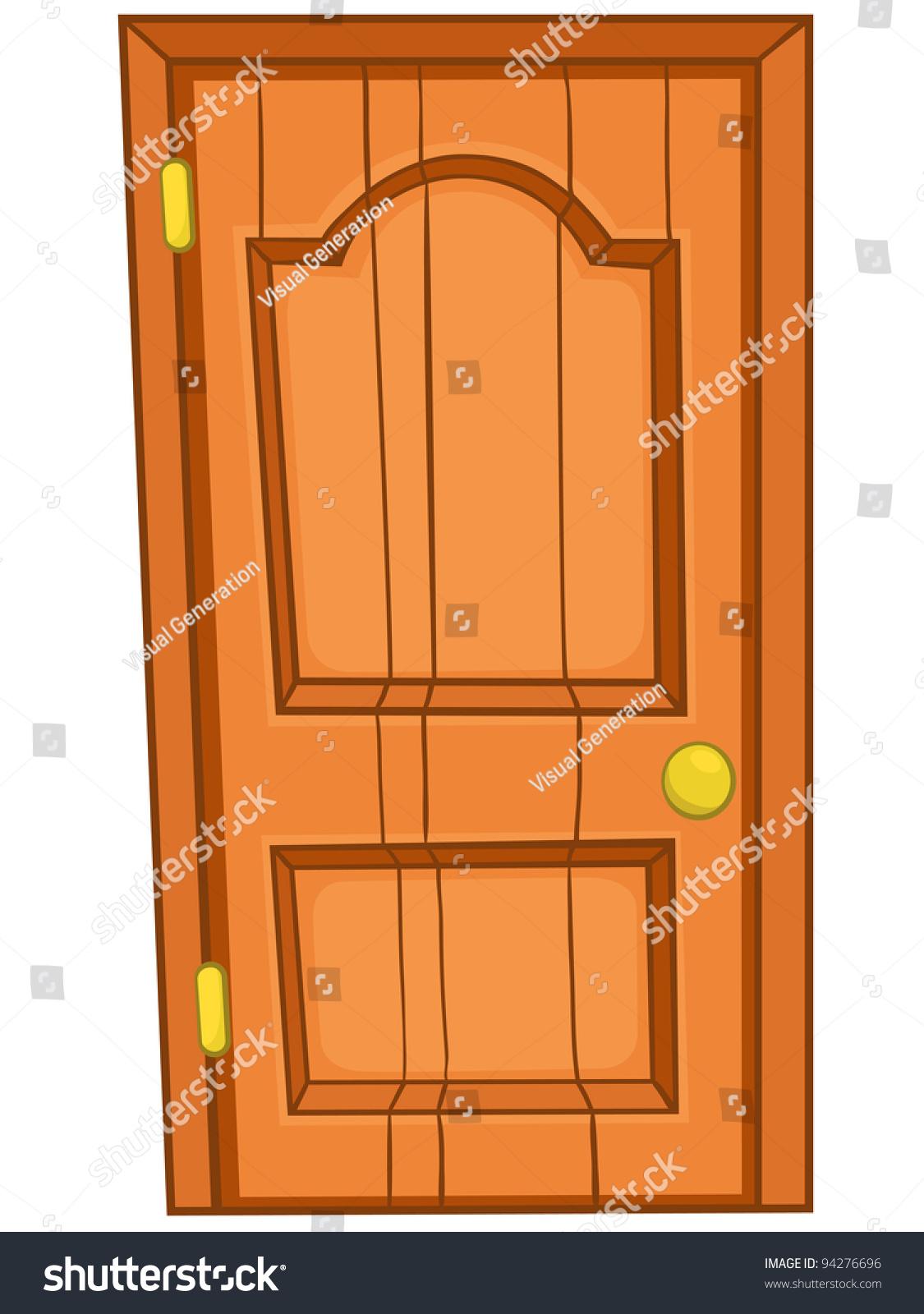 Cartoon home door isolated on white stock vector 94276696 for Door picture