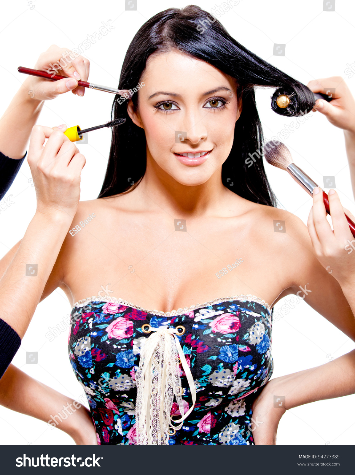 hair professional woman getting beauty makeup concepts styling shutterstock