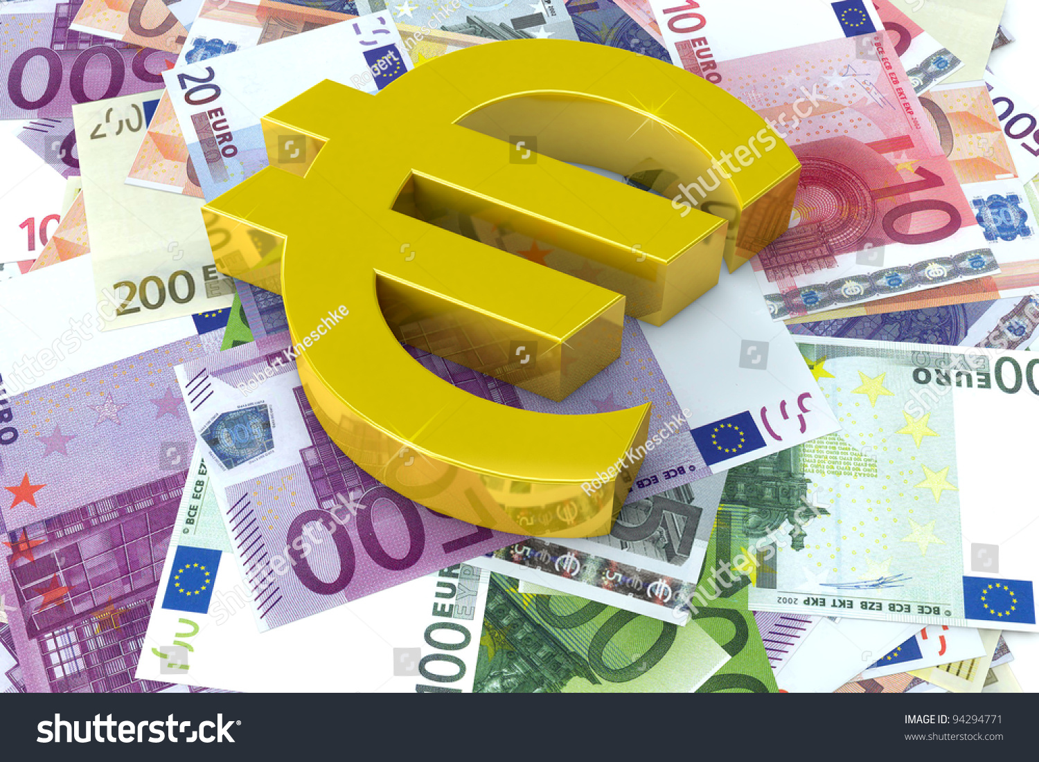 Euro symbol on many bills same stock illustration 94294771 euro symbol on many bills of the same currency biocorpaavc Images