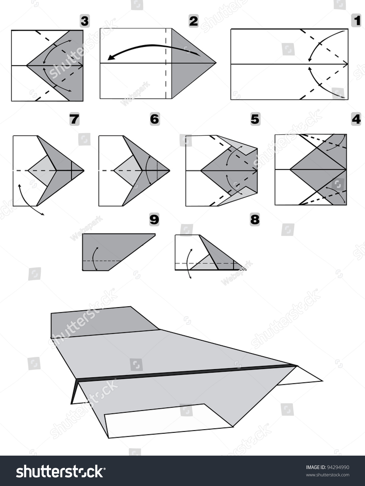 Best writing paper airplane design step by step