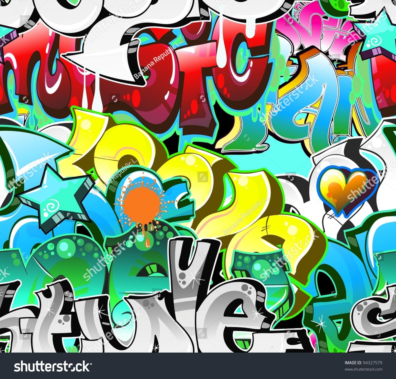 Graffiti Background Urban Art. Street Wall Stock Vector