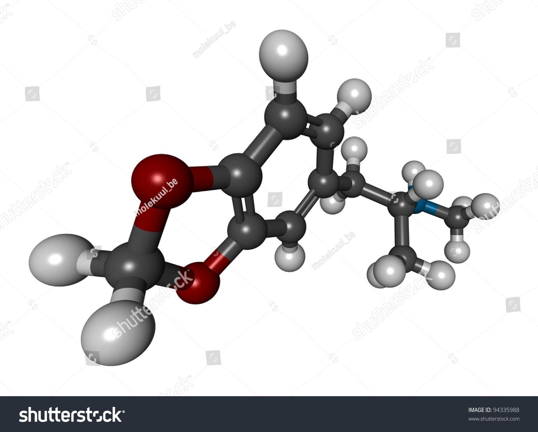 Molecule Can Bind With 4 Oxygen Molecules Vector Diagram Stock