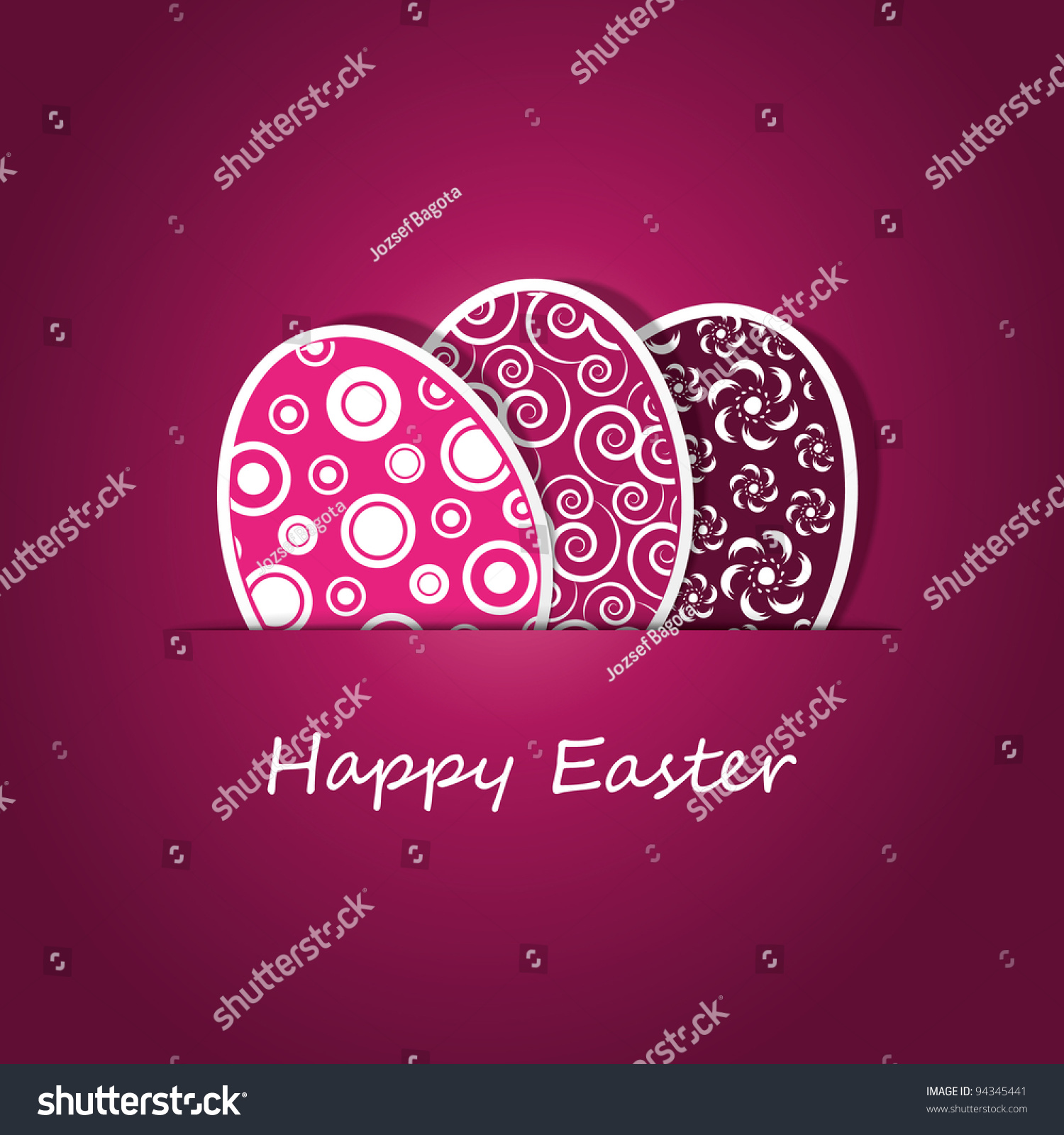 Happy Easter Card Vector 94345441 Shutterstock – Happy Easter Card
