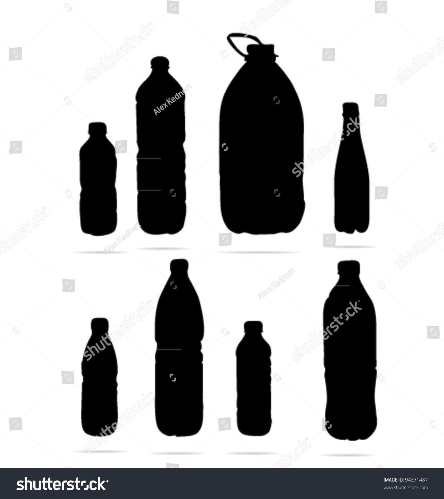 Water Bottle Vector: Water Bottle Sign Isolated Stock Vector Illustration
