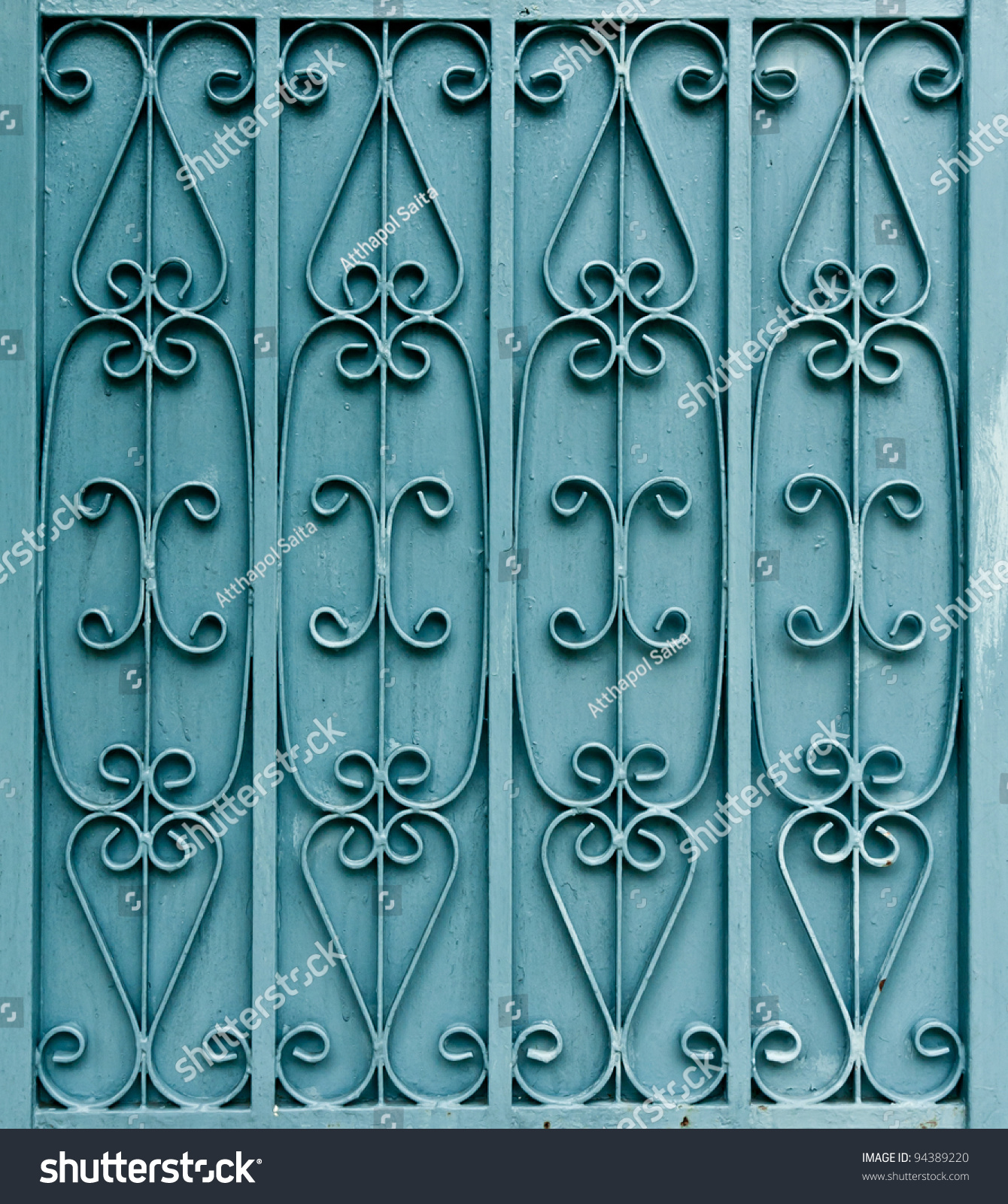 Fabulous Curved Pattern Design On Green Metal Stock Photo 94389220 Inspirational Interior Design Netriciaus