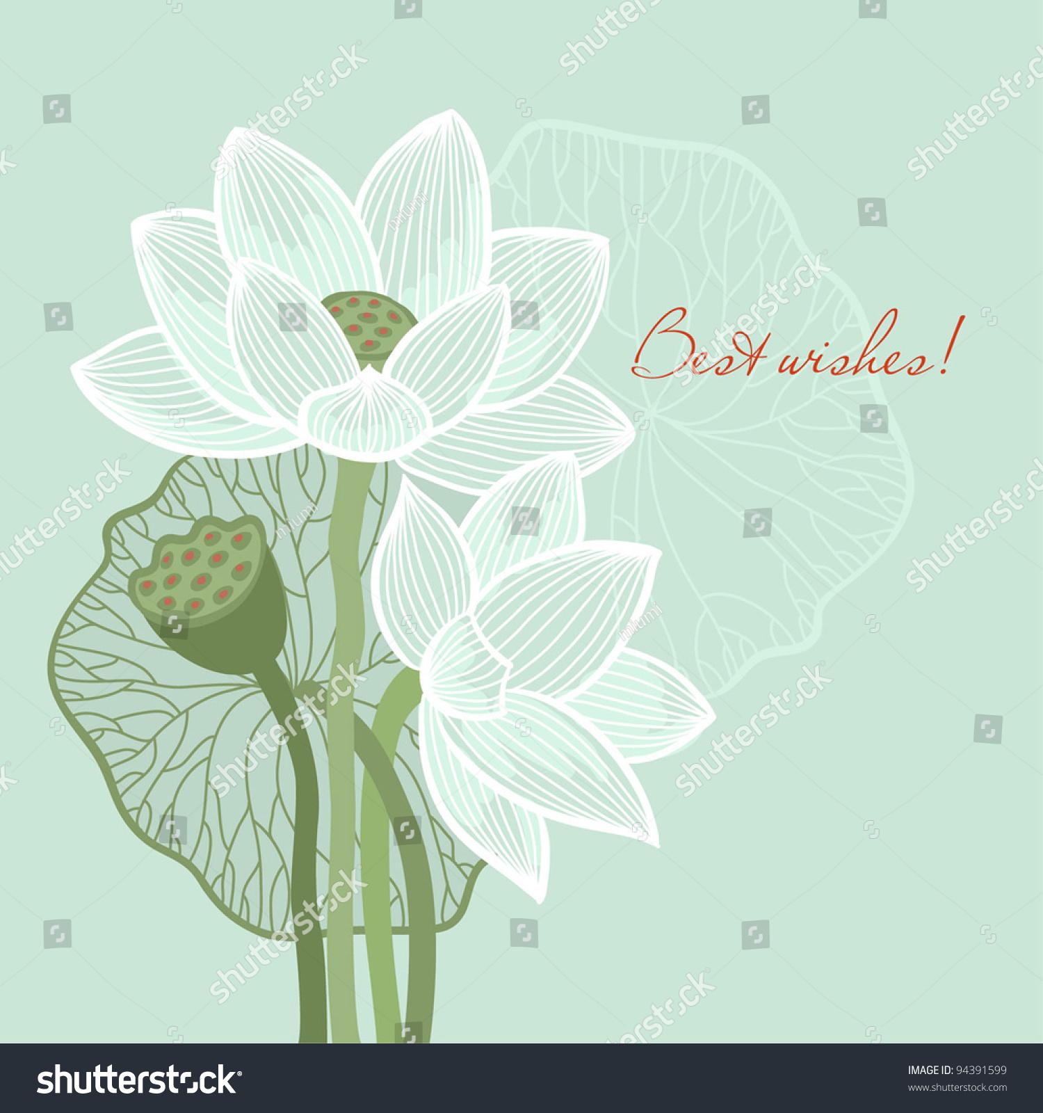 greeting card lotus stock vector royalty free 94391599 shutterstock