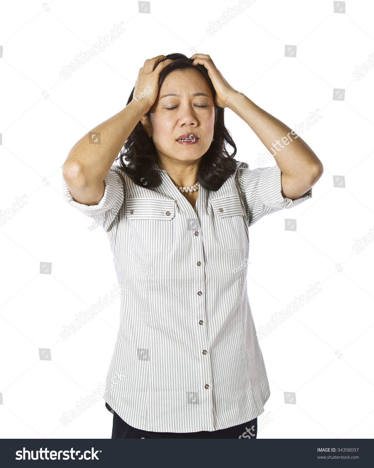Asian Woman Expressing Her 96