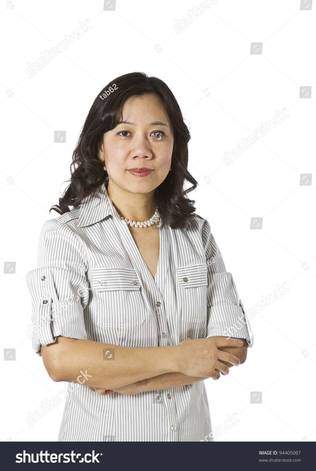 Asian Woman Expressing Her 118