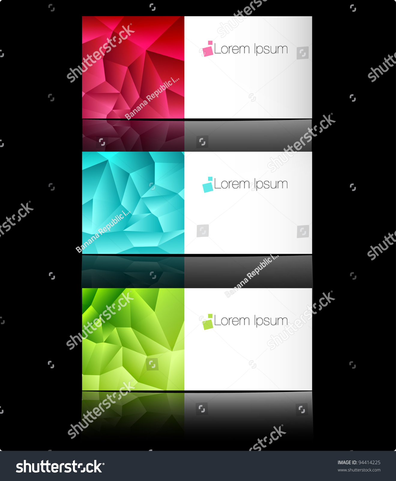 Vector Templates Business Cards Advertising Message Stock Vector ...
