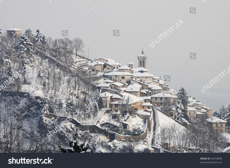 Sacro Monte Varese Winter Stock Photo (Safe to Use) 94418698 ...