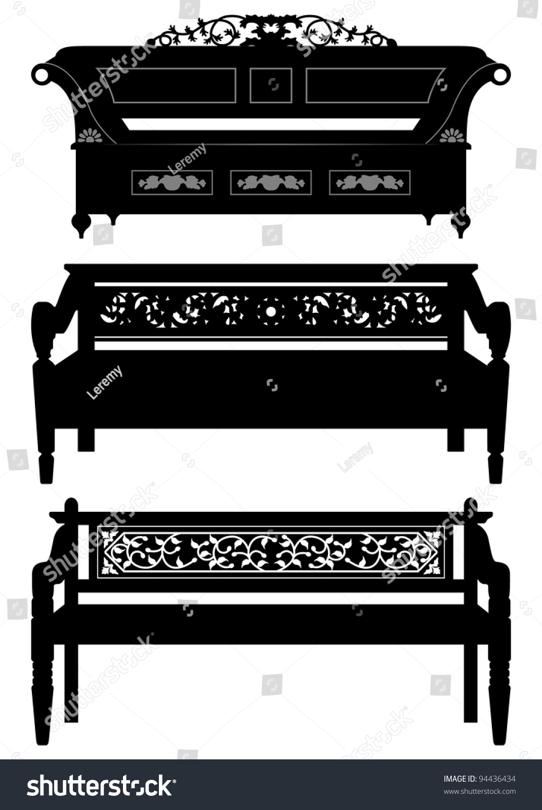 Antique chair silhouette - Asian Antique Chair Bench Furniture In Silhouette Preview Save To A Lightbox