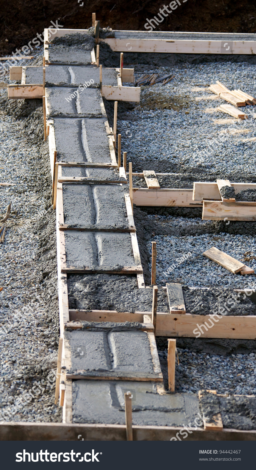 Concrete Footing Foundation House Under Construction Stock Photo Edit Now 94442467