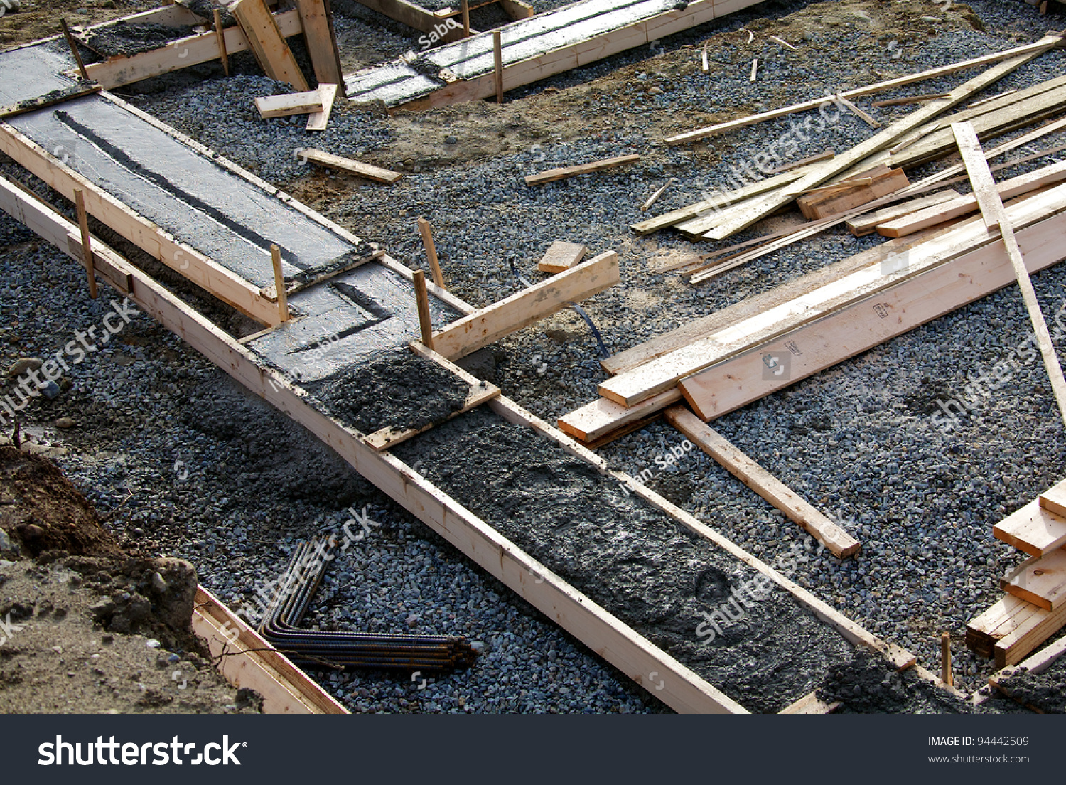 Concrete Footing Foundation House Under Construction Stock Photo Edit Now 94442509