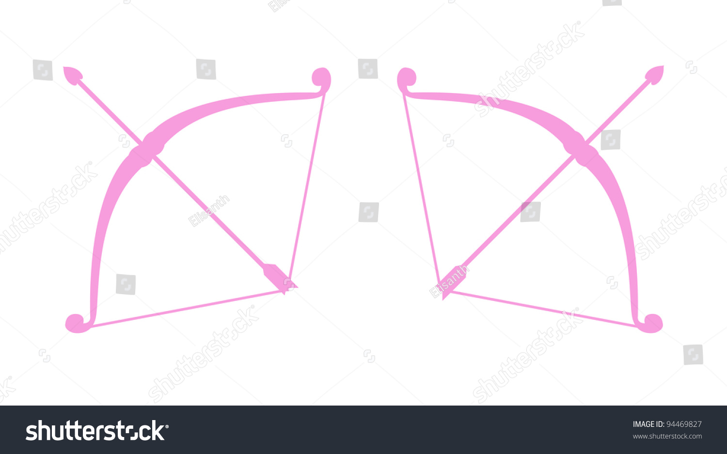 Vector Simple Abstract Icons Bow Heart Stock Vector ...