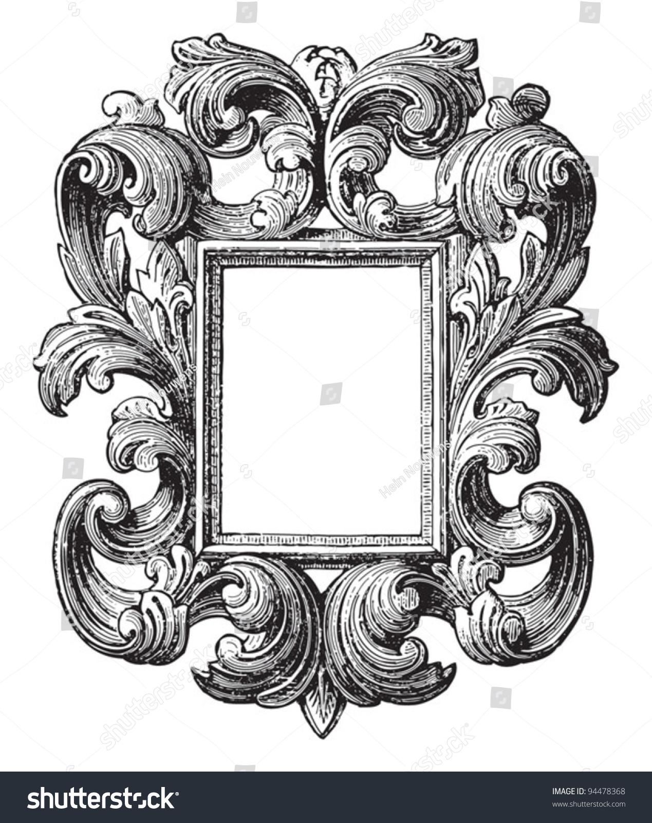 Decorative Vintage Frame Vintage Illustrations Meyers Stock Vector ...